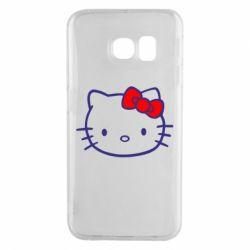Чехол для Samsung S6 EDGE Hello Kitty logo