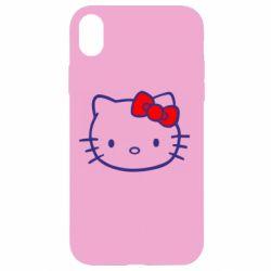 Чехол для iPhone XR Hello Kitty logo