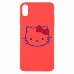 Чехол для iPhone Xs Max Hello Kitty logo