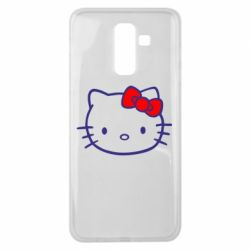 Чехол для Samsung J8 2018 Hello Kitty logo