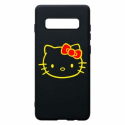 Чехол для Samsung S10+ Hello Kitty logo