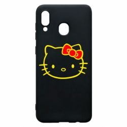 Чехол для Samsung A30 Hello Kitty logo