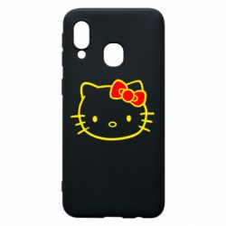 Чехол для Samsung A40 Hello Kitty logo