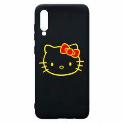 Чехол для Samsung A70 Hello Kitty logo