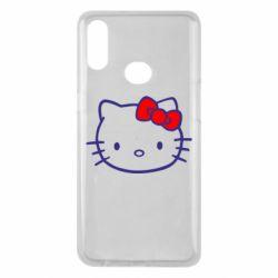Чехол для Samsung A10s Hello Kitty logo