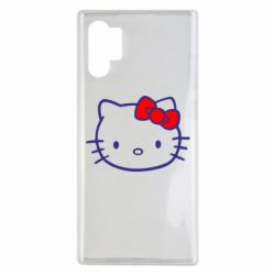 Чехол для Samsung Note 10 Plus Hello Kitty logo