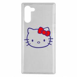 Чехол для Samsung Note 10 Hello Kitty logo