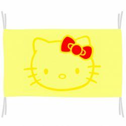 Флаг Hello Kitty logo
