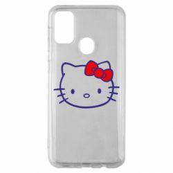 Чехол для Samsung M30s Hello Kitty logo