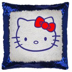 Подушка-хамелеон Hello Kitty logo