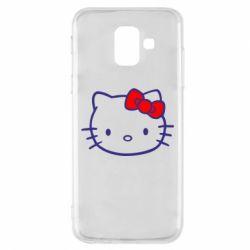 Чехол для Samsung A6 2018 Hello Kitty logo