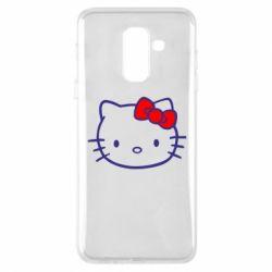 Чехол для Samsung A6+ 2018 Hello Kitty logo