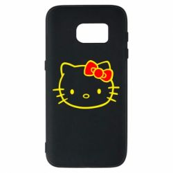 Чехол для Samsung S7 Hello Kitty logo