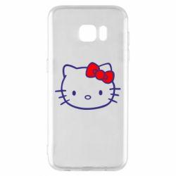 Чехол для Samsung S7 EDGE Hello Kitty logo