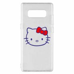 Чехол для Samsung Note 8 Hello Kitty logo