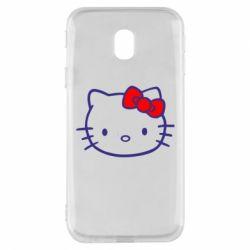 Чехол для Samsung J3 2017 Hello Kitty logo