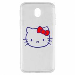 Чехол для Samsung J7 2017 Hello Kitty logo