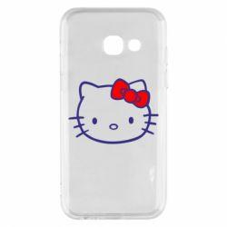 Чехол для Samsung A3 2017 Hello Kitty logo