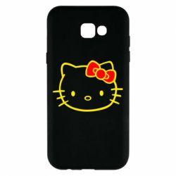 Чехол для Samsung A7 2017 Hello Kitty logo