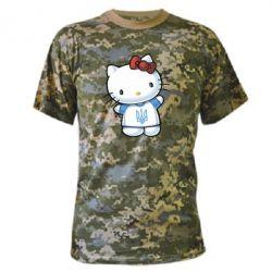 Камуфляжная футболка Hello Kitty UA - FatLine