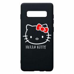 Чехол для Samsung S10+ Hello Kitty