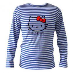 Тельняшка с длинным рукавом Hello Kitty - FatLine