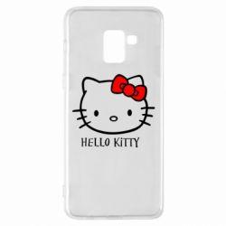 Чехол для Samsung A8+ 2018 Hello Kitty