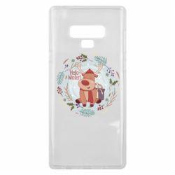 Чехол для Samsung Note 9 Hello winter!