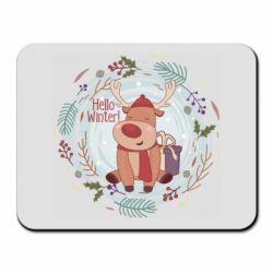 Коврик для мыши Hello winter!