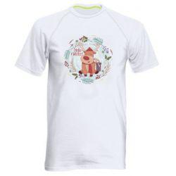 Мужская спортивная футболка Hello winter!