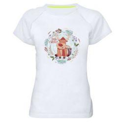Женская спортивная футболка Hello winter!