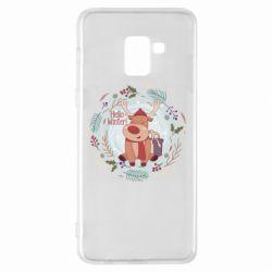 Чехол для Samsung A8+ 2018 Hello winter!