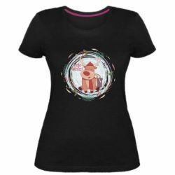 Женская стрейчевая футболка Hello winter!
