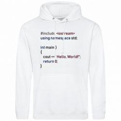 Чоловіча толстовка Hello world code