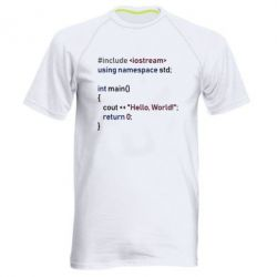 Чоловіча спортивна футболка Hello world code