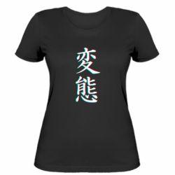 Женская футболка HENTAI JAPAN GLITCH
