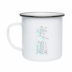 Кружка эмалированная HENTAI JAPAN GLITCH