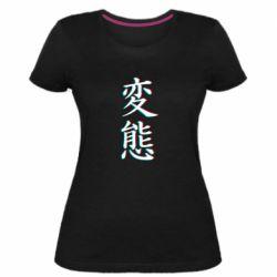 Женская стрейчевая футболка HENTAI JAPAN GLITCH