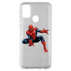 Чехол для Samsung M30s Hero Spiderman
