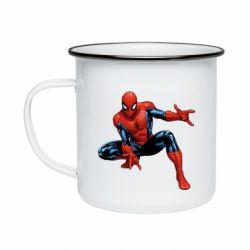 Кружка емальована Hero Spiderman