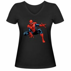 Женская футболка с V-образным вырезом Hero Spiderman