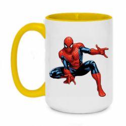 Кружка двухцветная 420ml Hero Spiderman