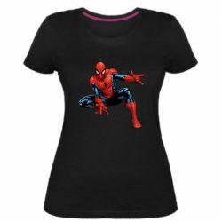 Женская стрейчевая футболка Hero Spiderman