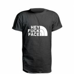 Подовжена футболка Hey fuck face
