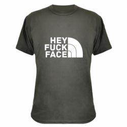 Камуфляжна футболка Hey fuck face