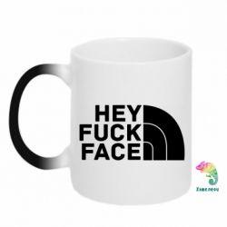 Кружка-хамелеон Hey fuck face