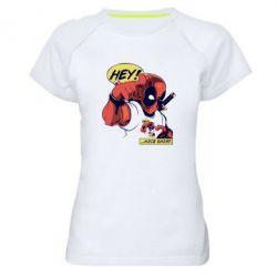 Женская спортивная футболка Hey! Nice shirt