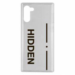 Чохол для Samsung Note 10 Hidden