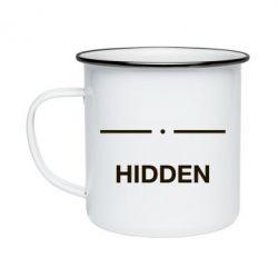 Кружка емальована Hidden