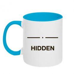 Кружка двоколірна 320ml Hidden